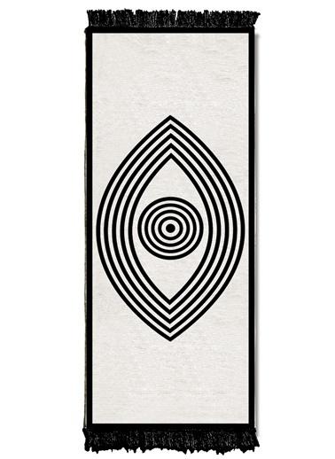 The Mia Kilim 200 x 80 Cm - Çift Taraflı Siyah